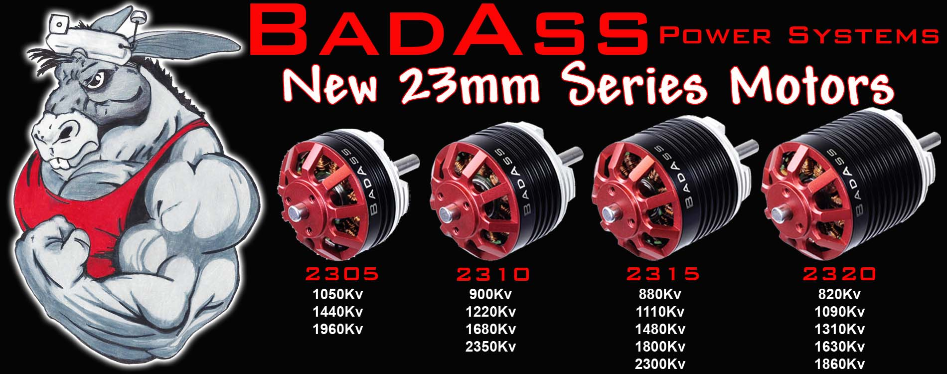 BadAss 23mm Series Motors