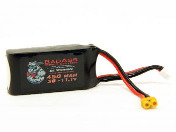 BadAss 45C  450mah 3S LiPo Battery