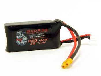 BadAss 45C  850mah 2S LiPo Battery