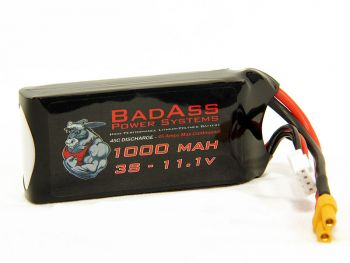 BadAss 45C 1000mah 3S LiPo Battery