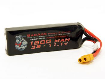 BadAss 45C 1800mah 3S LiPo Battery
