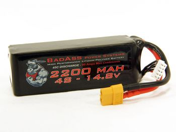 BadAss 45C 2200mah 4S LiPo Battery
