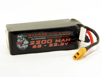 BadAss 45C 2200mah 6S LiPo Battery