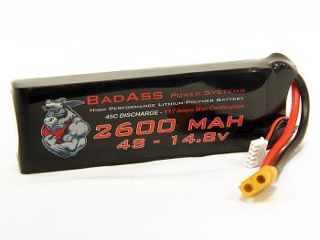 BadAss 45C 2600mah 4S LiPo Battery