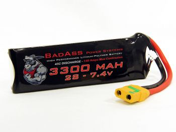 BadAss 45C 3300mah 2S LiPo Battery
