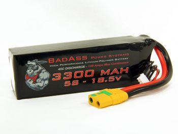 BadAss 45C 3300mah 5S LiPo Battery