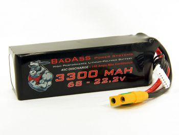 BadAss 45C 3300mah 6S LiPo Battery