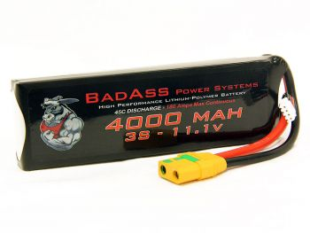 BadAss 45C 4000mah 3S LiPo Battery