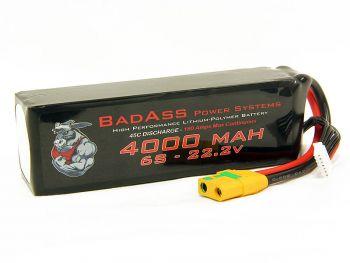 BadAss 45C 4000mah 6S LiPo Battery
