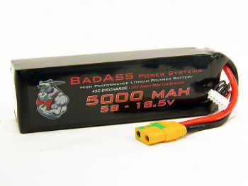 BadAss 45C 5000mah 5S LiPo Battery