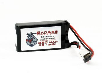 BadAss 25C  850mah 2S LiFe Battery