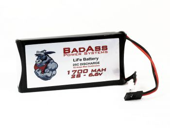 BadAss 25C 1700mah 2S LiFe Battery