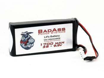 BadAss 25C 1700mah 3S LiFe Battery