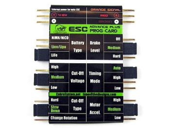 Cobra ESC Programming Card