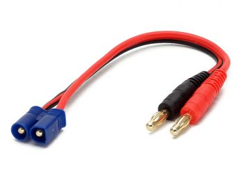 Charge Harness Cable, 4mm Banana to EC3 Male