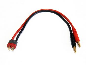 Charge Harness Cable, 4mm Banana to T-Plug Male