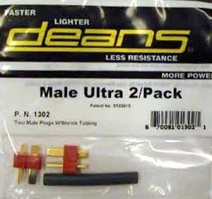 Deans  Ultra Connector - Male 2 Pack