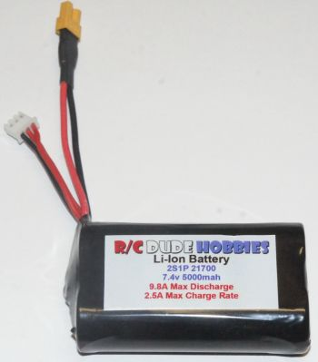 RC Dude HC Series Li-Ion Battery - 2S1P 7.4v 5000mah