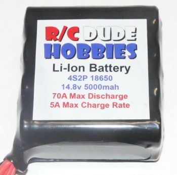 RC Dude HD Series Li-Ion Battery - 4S2P 14.8v 5000mah