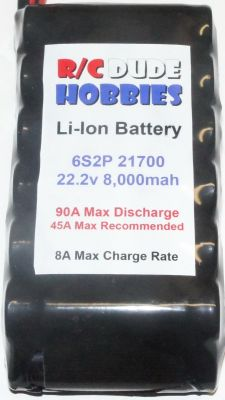 RC Dude HD Series Li-Ion Battery - 6S2P 22.2v 8,000mah