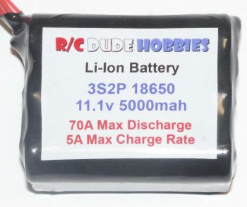 RC Dude HD Series Li-Ion Battery - 3S2P 11.1v 5000mah