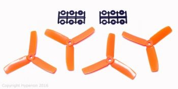 Hyperion 4x4 3-Blade Bullnose Prop Set 2CW 2CCW - Orange