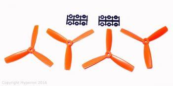 Hyperion 5x4.5 3-Blade Bullnose Prop Set 2CW 2CCW - Orange