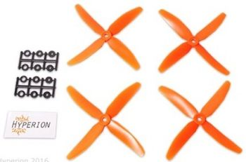 Hyperion 5x4 4-Blade Prop Set 2CW 2CCW - Orange