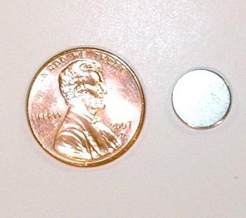 Neodymium Magnet 3/8-in x 1/10-in