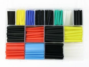 Heat Shrink Tubing Assortment with Case, 580-Piece