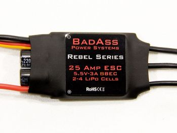 BadAss Rebel Series Brushless ESC, 25A