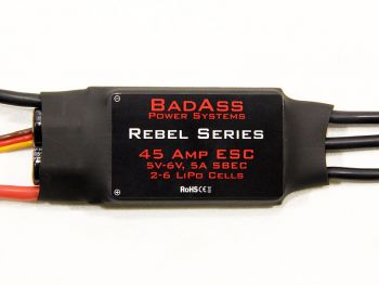 BadAss Rebel Series Brushless ESC, 45A