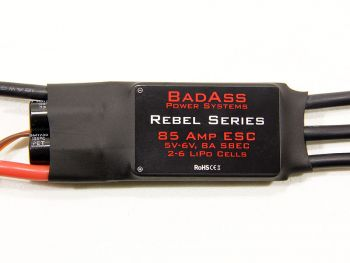 BadAss Rebel Series Brushless ESC, 85A