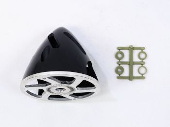 Air-Flow Spinner with Aluminum Backplate, 63mm (2-1/2