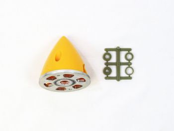 Plastic Spinner with Aluminum Backplate, 45mm (1-3/4