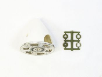 Plastic Spinner with Aluminum Backplate, 51mm (2