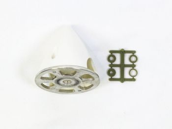 Plastic Spinner with Aluminum Backplate, 57mm (2-1/4