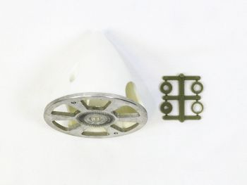 Plastic Spinner with Aluminum Backplate, 63mm (2-1/2
