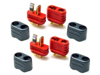 Amass  T-Plug Connector Set - 2 Male & 2 Female