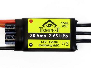 Tempest Brushless ESC, 80A 6S