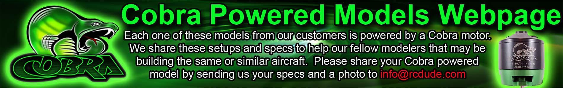 Cobra Powered Models Webpage